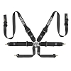 Sparco FIA Hans Pro 6-Point Racing Harness - Pull Down Black Only