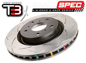 Corvette C6 - Z06 Package .2006-2013 Rotor Slotted 4000 series Left/Right Front Set  w/Hawk Ceramic Pads