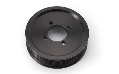 Edelbrock Competition Supercharger Pulley #15820 3.50 in. 6-Rib, Black Anodized