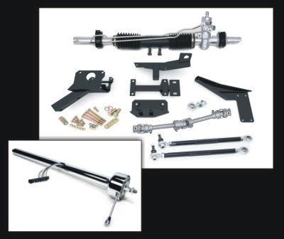 (83865) Steeroids Manual Rack Kit for 58-62 Corvettes with Chrome Steering Column