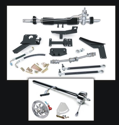 (83815) Steeroids Power Rack Kit for 58-62 Corvettes with Paintable Steering Column