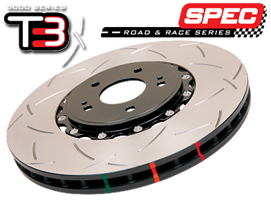 52994BLKS 97-04 Corvette C5 Front Slotted 5000 Series 2 Piece Rotor Assembled w/ Black Hat  Right & Left Pair