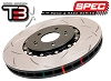 52992BLKS DBA 06-13 Corvette Z06 pkg Front T3 Slotted 5000 Series 2 Piece Rotor Assembled w/ Black Hat  (PAIR)