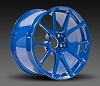 Forgeline GS1R 18x10.5 (min offset = +5mm, max offset = +66mm) Deep Hot Rod Blue