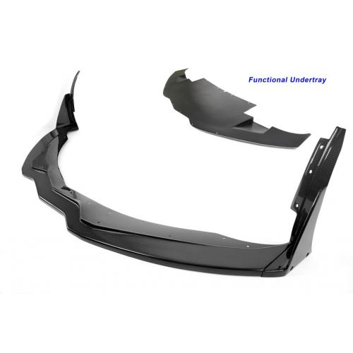 FA-207028 Chevrolet Corvette C7 ZO6 Track Pack Front Air Dam / Splitter with Undertray 2015-Up